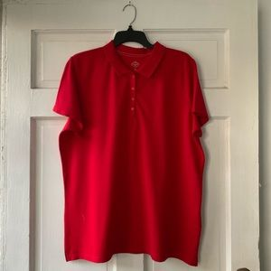 Red Collard Blouse